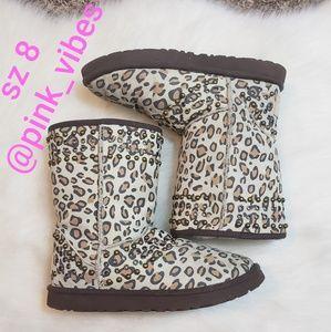 UGG Jimmy Choo Leopard Print Short Boots